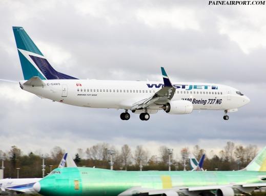 ウェストジェット 737-800 C-GAWS