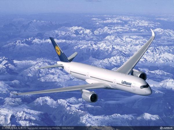 A350-900 ルフトハンザ塗装