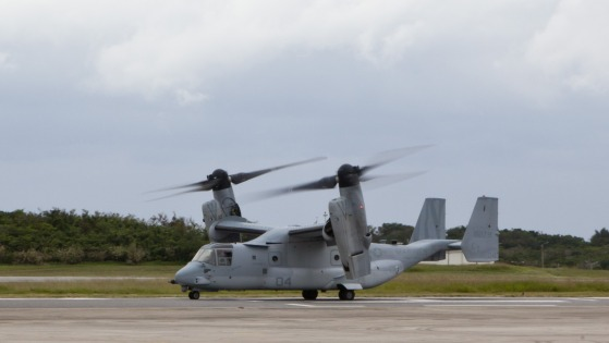 普天間基地第262海兵中型ティルトローター飛行隊(VMM-262)所属 MV-22B オスプレイ