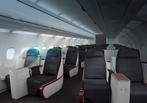 A319 flyteam for Interieur qatar airways
