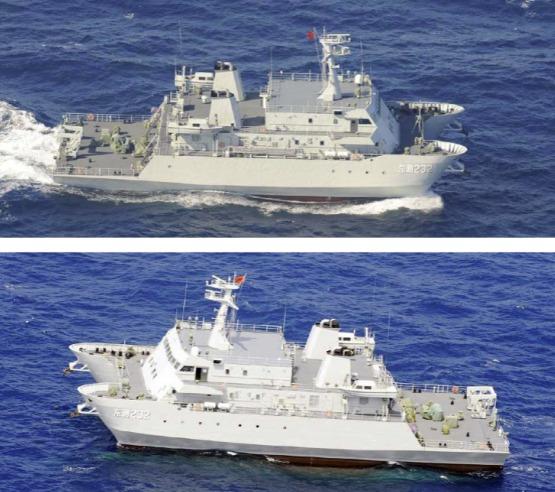 中国海軍 艦級不明測量艦 「東測232」