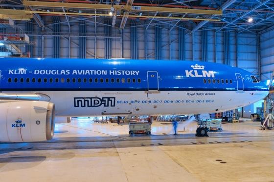 KLMオランダ航空 MD-11 ダグラス機種を記す