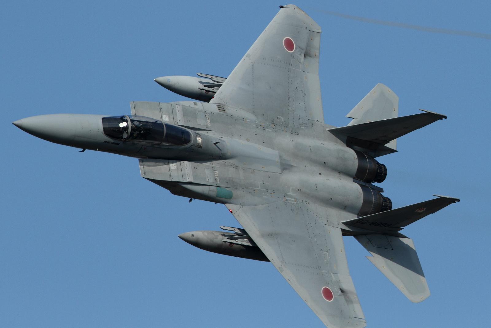 USAF F15 Strike Eagle full afterburner takeoff  RAF Fairford